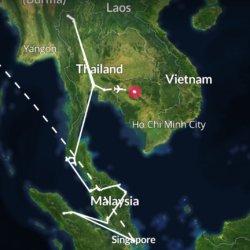Südostasien check! 🇸🇬🇲🇨🇲🇾🇹🇭🇰🇭